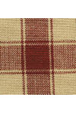 Yd. Red and Tan House Check Fabric #34
