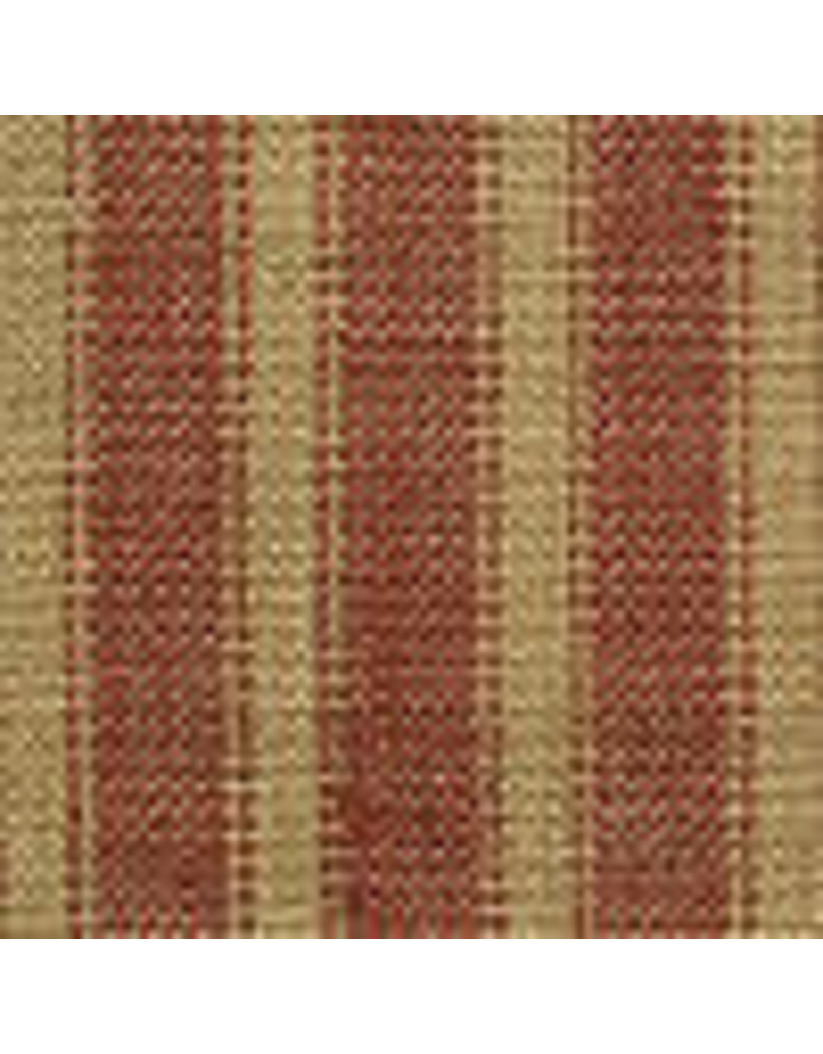 Yd. Red and Tan Reverse Ticking Fabric #37s