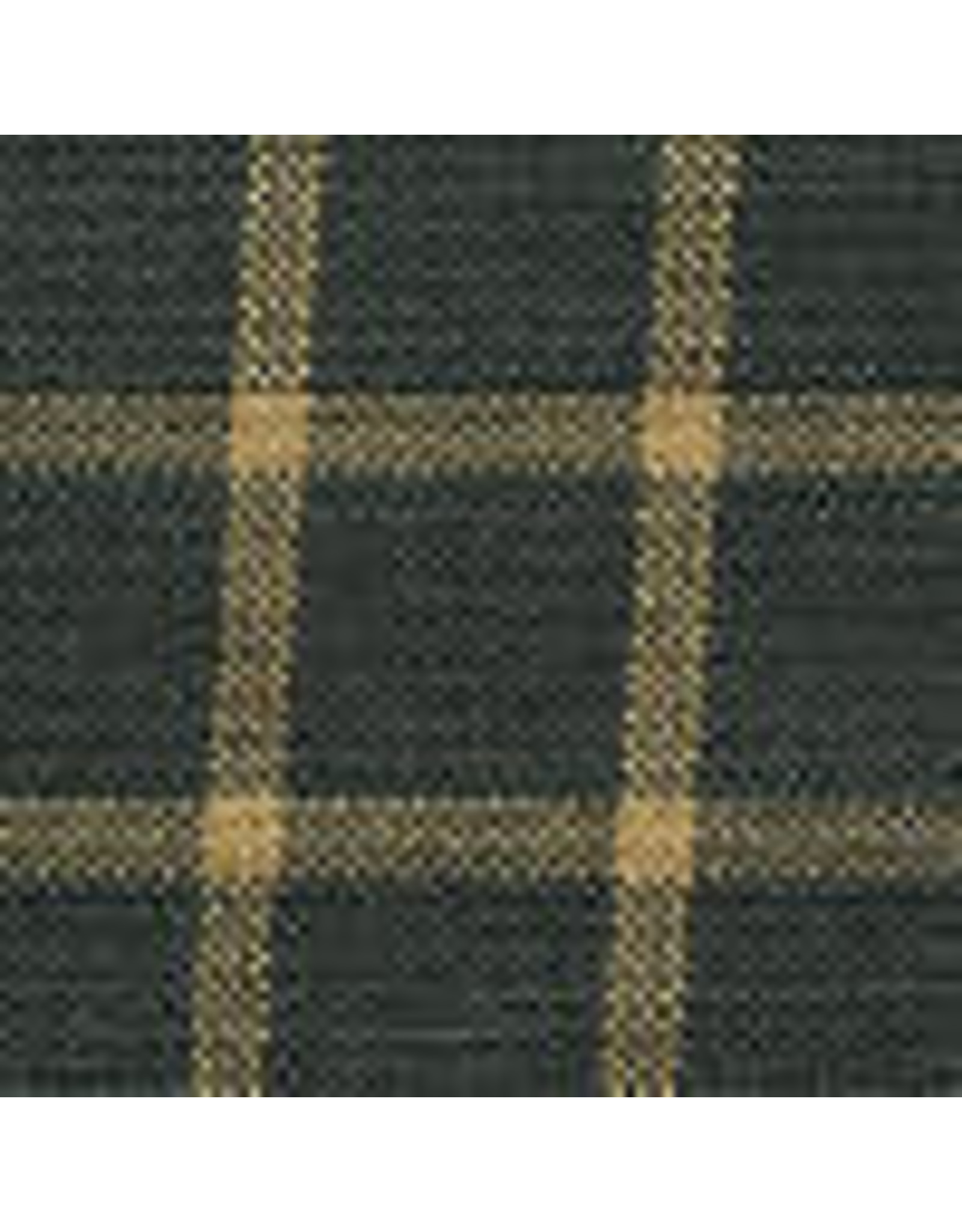 Yd. Green and Tan Reverse Window Pane Fabric #401