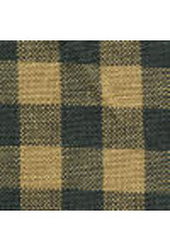 Yd. Green and Tan Small Check Fabric #42
