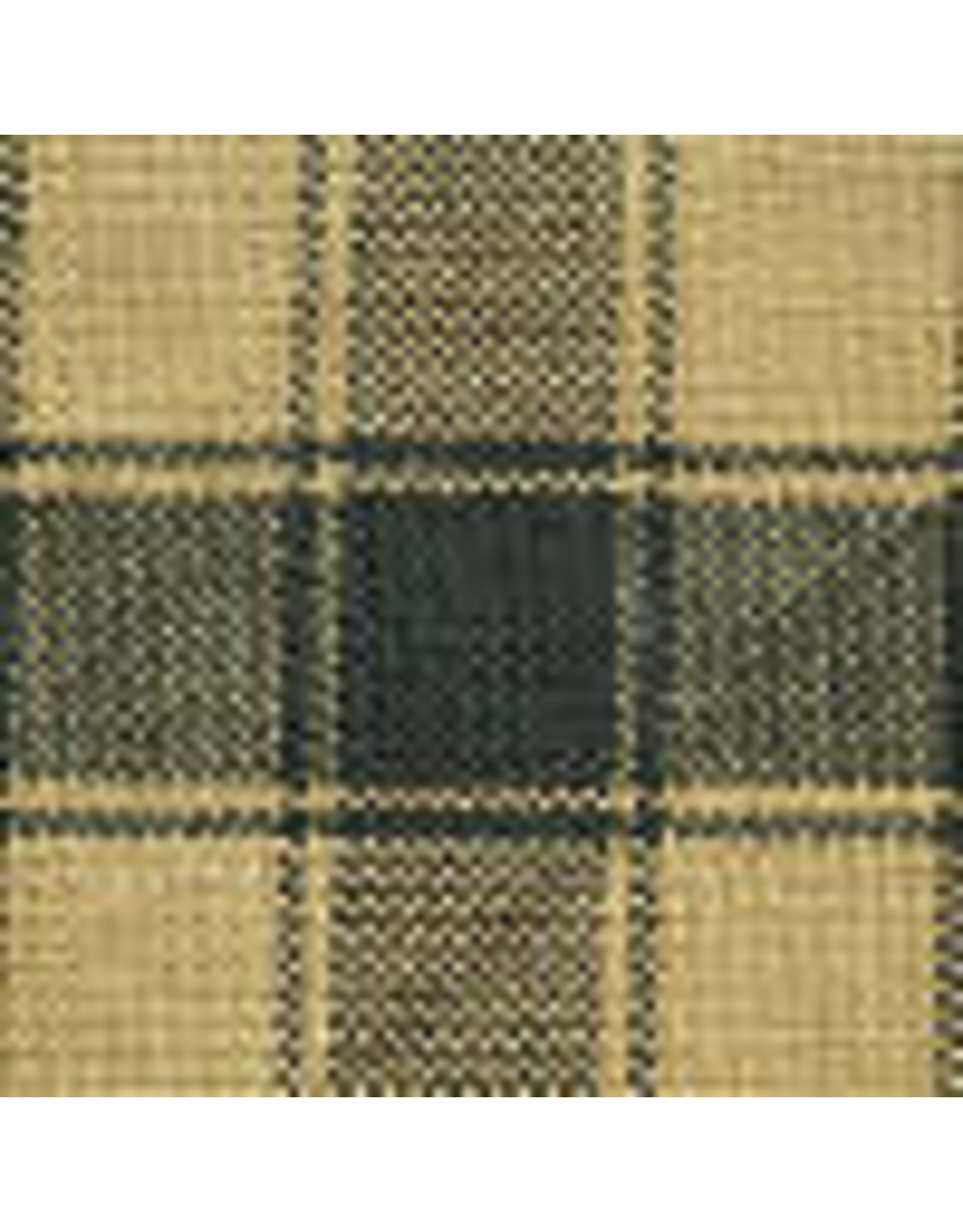 Yd. Green and Tan House Check Fabric #44