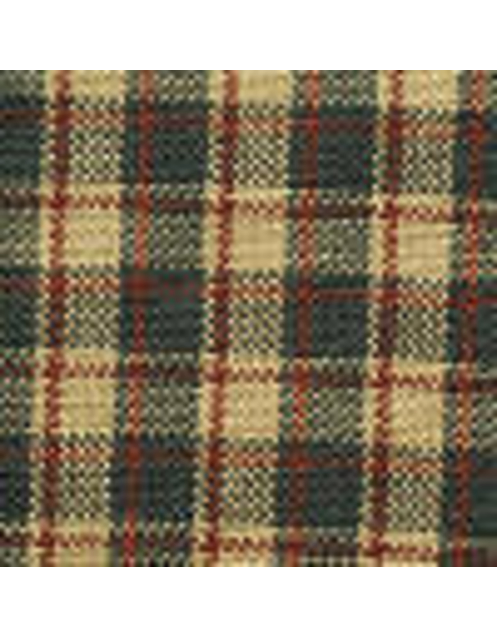 Yd. Green and Tan Tri-color With Stripe Fabric #45
