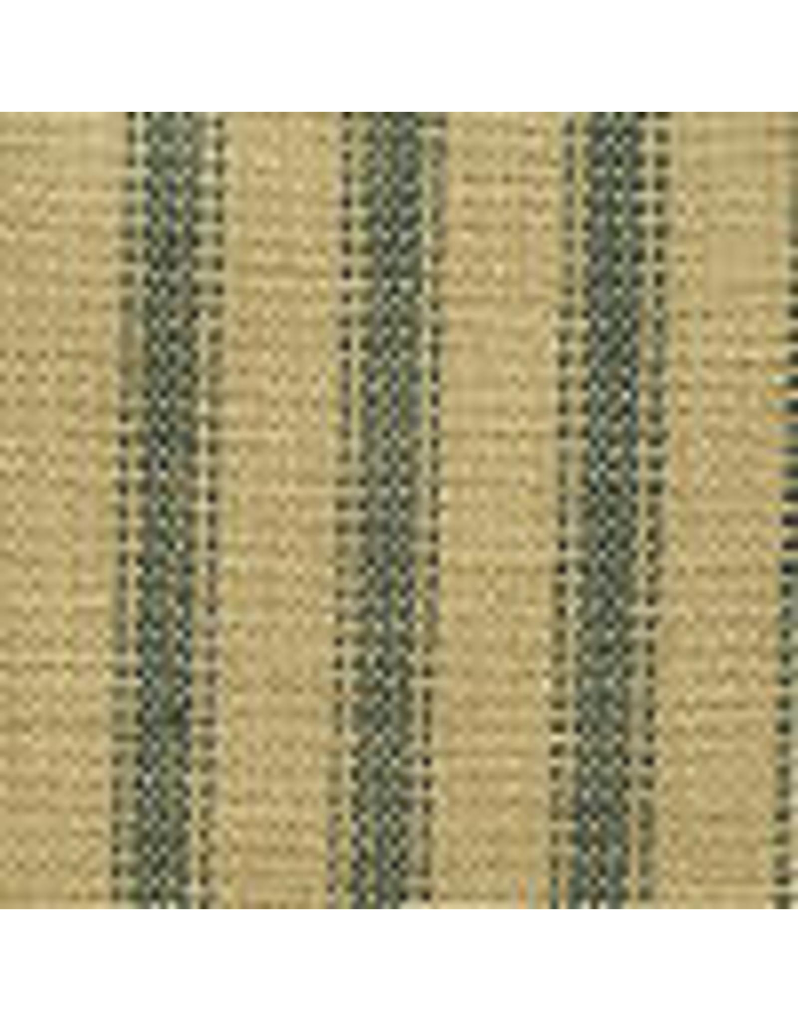 Yd. Green and Tan Ticking Fabric #46