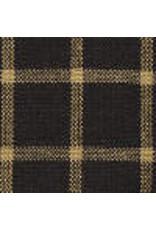 Yd. Black and Tan Reverse Window Pane Fabric #50