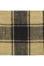 Yd. Black and Tan House Check Fabric #54