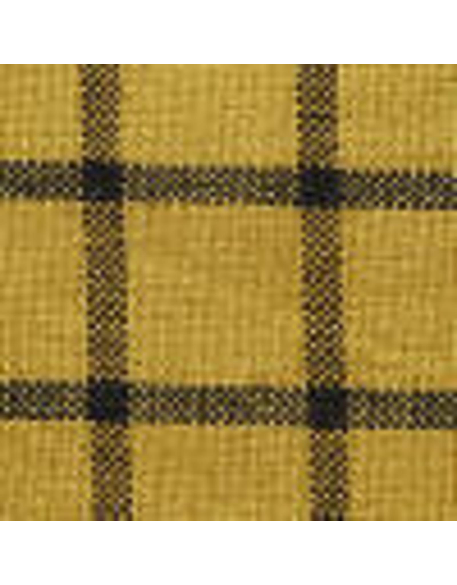 Yd. Mustard and Black Window Pane Fabric #70