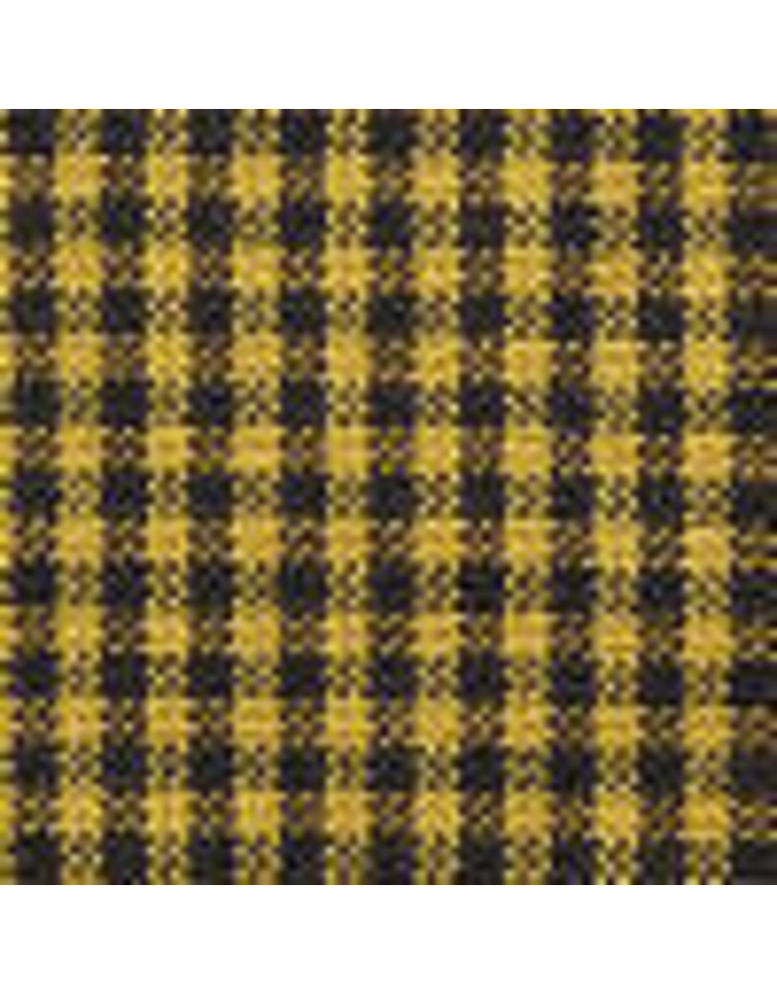 Yd. Mustard and Black Mini Check Fabric #73