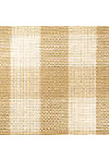 Yd. Wheat and Cream Small Check Fabric #82