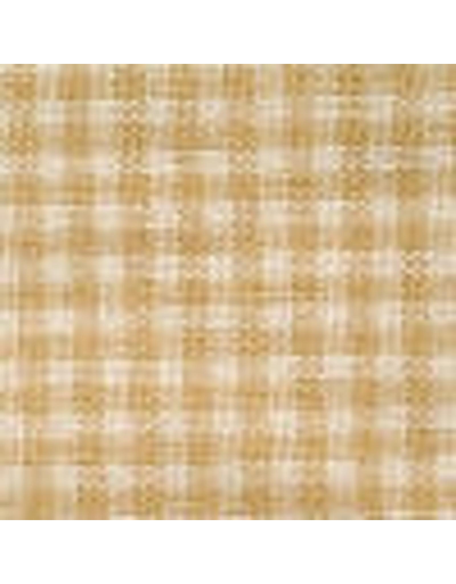 Yd. Wheat and Cream mini check fabric #83