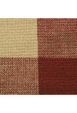 Yd. Red and Tan Buffalo Check Fabric #390