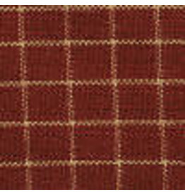 Yd. Red and Tan Small Window Pane Fabric #303