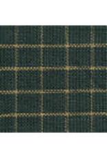 Yd. Green and Tan Small Window Pane Fabric #403