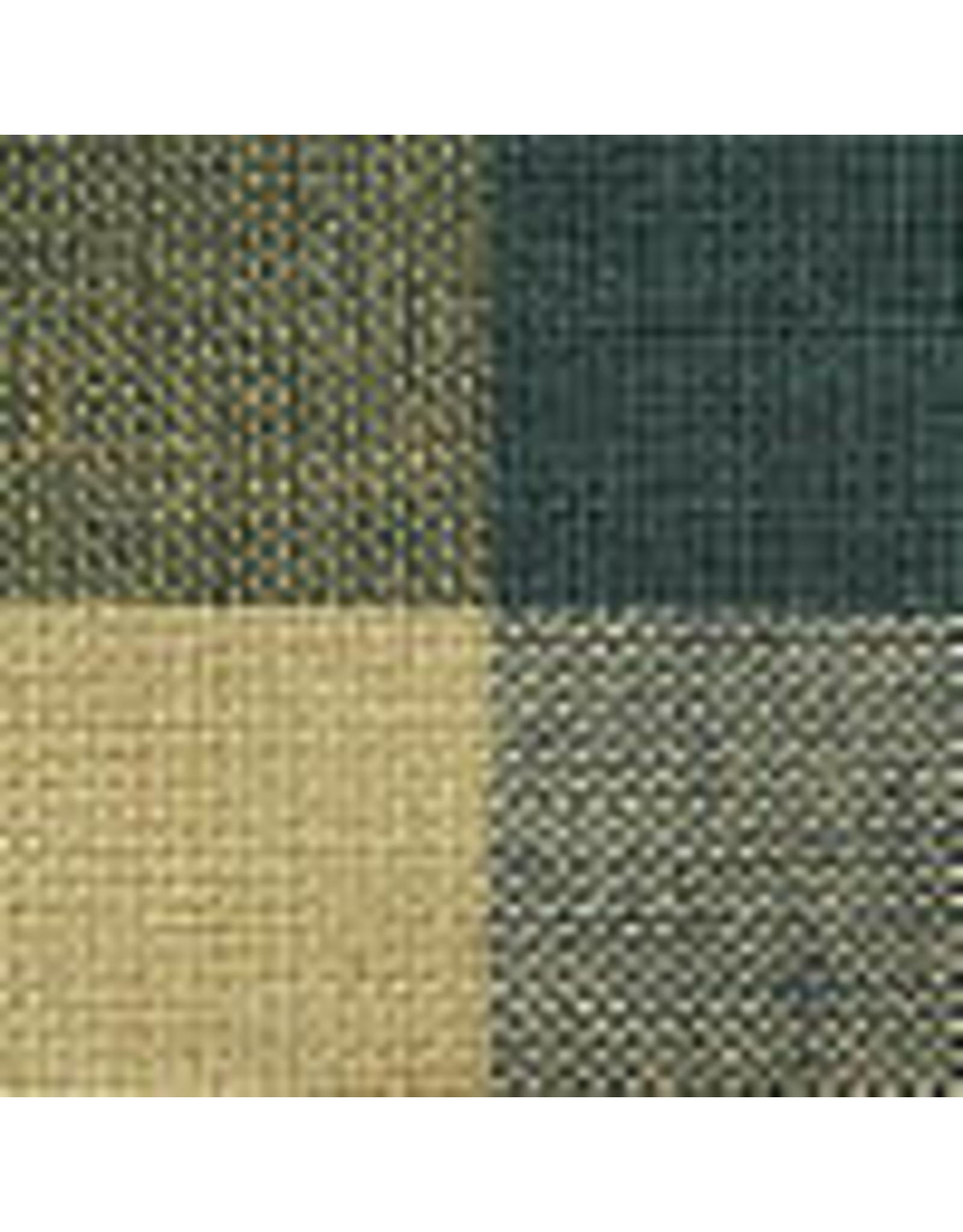 Yd. Green and Tan Buffalo Check Fabric #490