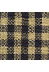 Yd. Navy and Tan Little Square Check Fabric #204