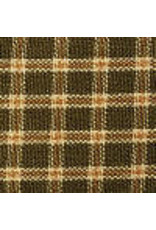 Yd. Plaid Sage Green and Tan Fabric #104