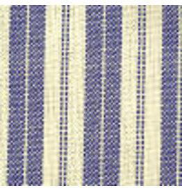 Yd. Blue and Cream Ticking Fabric #707pb