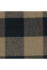 Yd. Black and Tan Buffalo Check Fabric #590