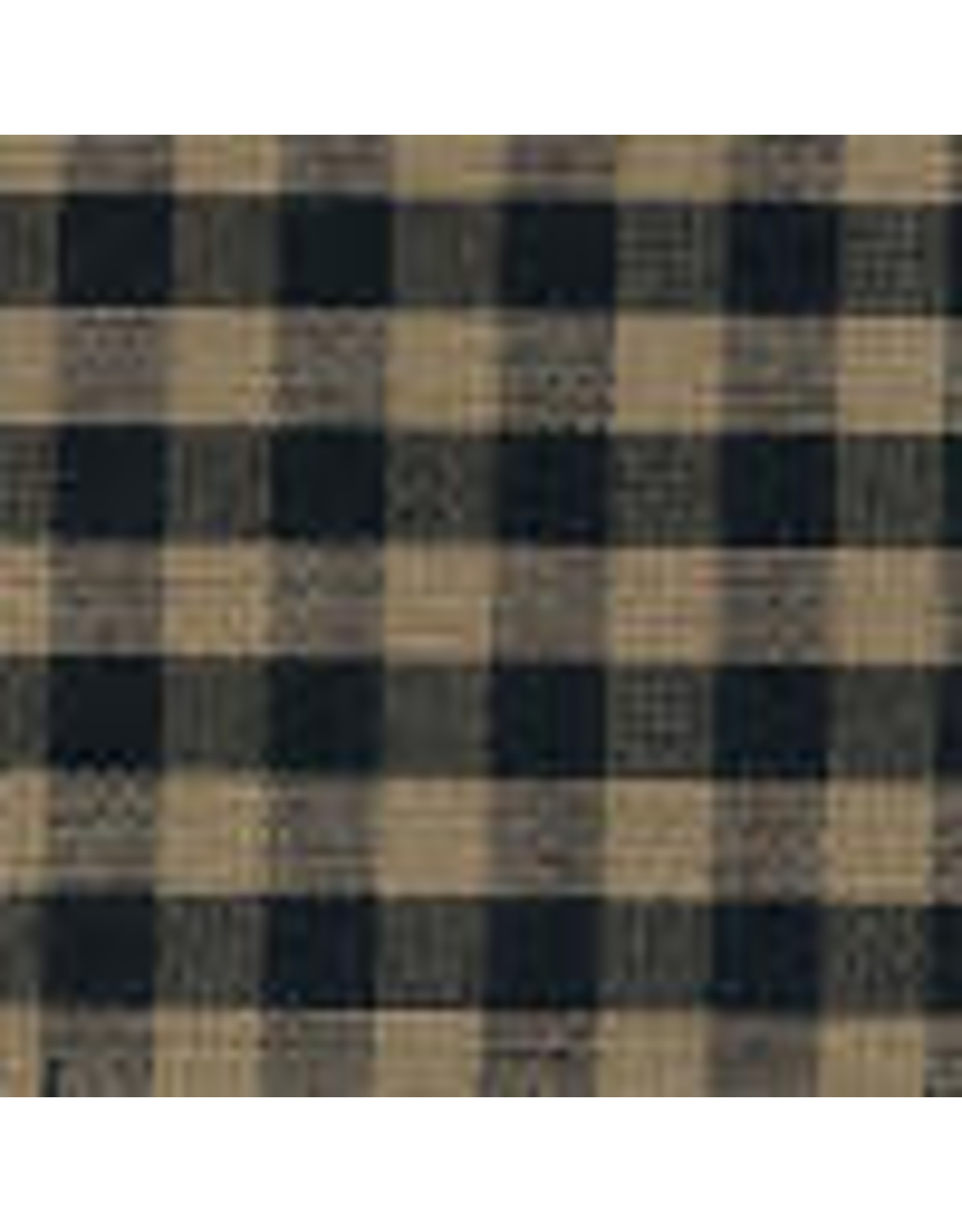Yd. Black and Tan Small Check Fabric #52