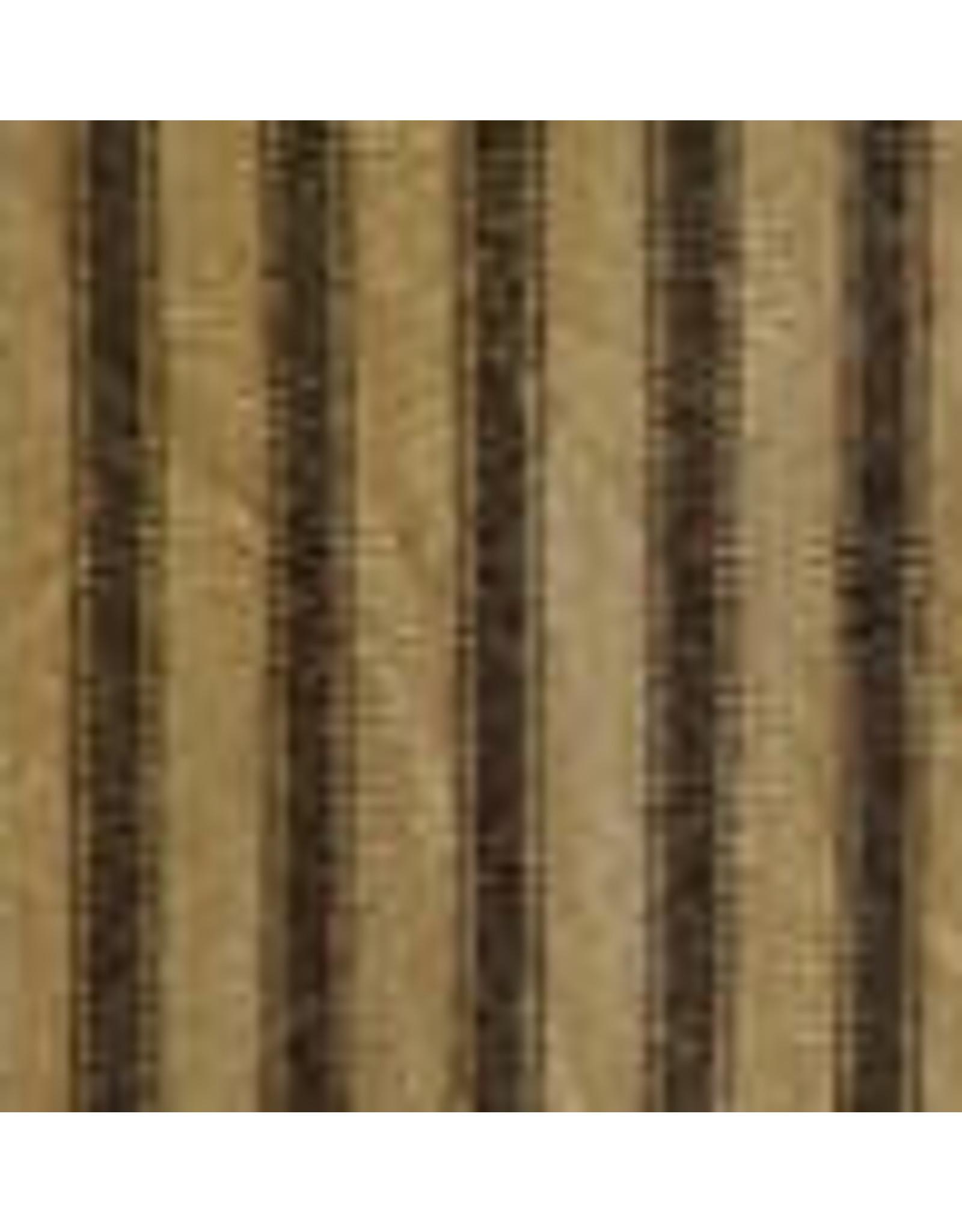 Yd. Black and Tan Ticking Stripe Fabric #56
