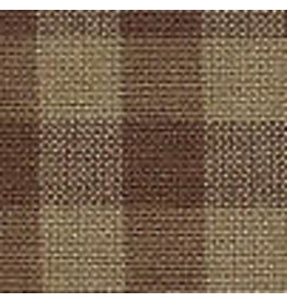 Yd. Brown and Tan Small Check Fabric #92