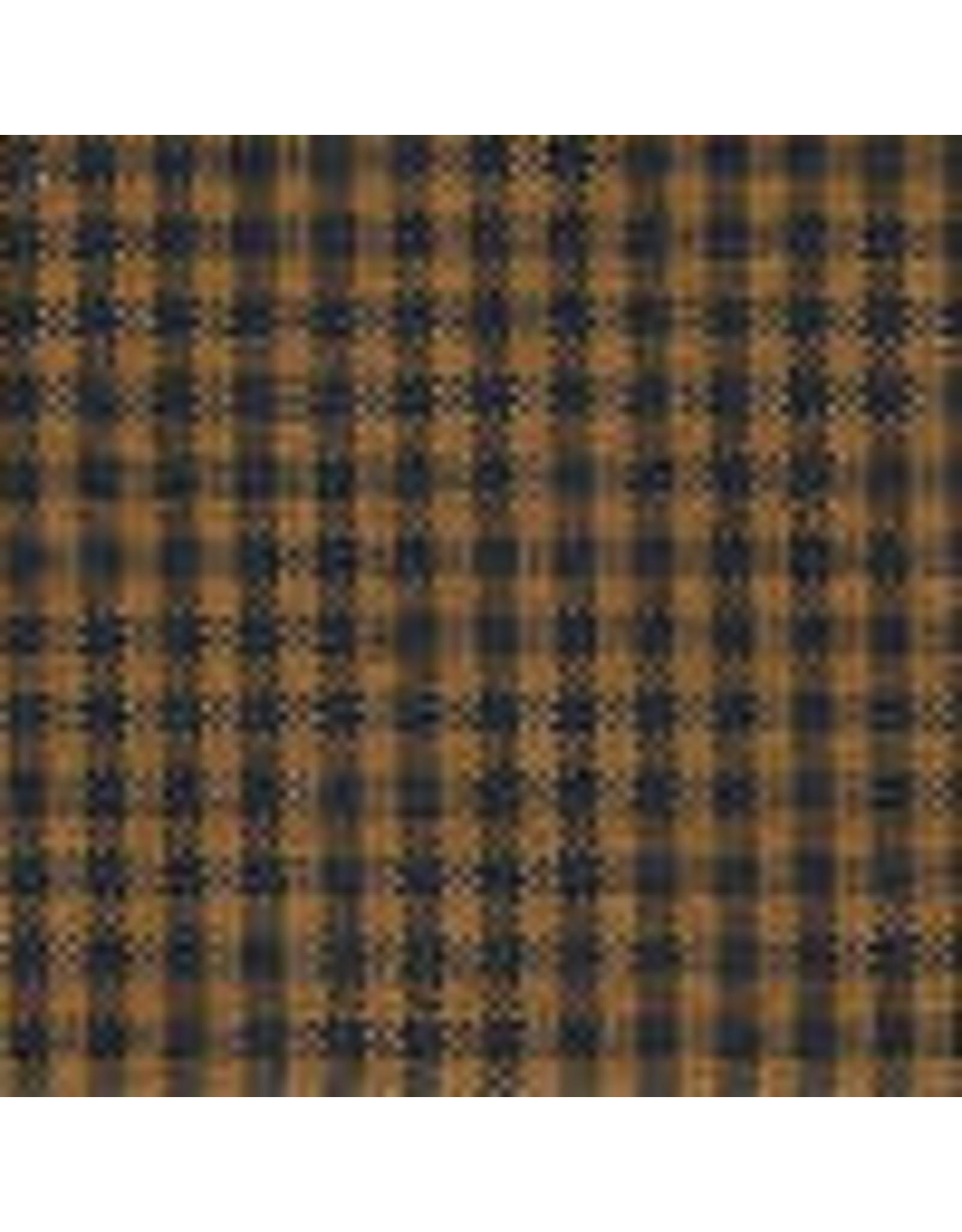 Yd. Pumpkin Spice and Black Mini Check Fabric #5053