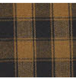 Yd. Pumpkin Spice and Black House Check Fabric #5054