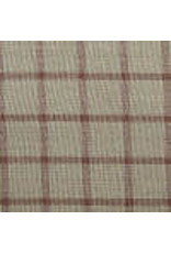 Yd. Brown and Tan Reverse Window Pane Fabric #90