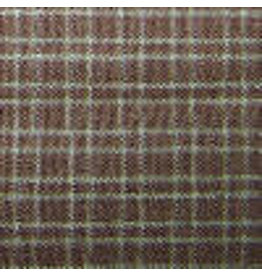 Yd. Brown and Tan Reverse Double Pane Fabric #911
