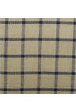 Yd. Black and Tan Windowpane Fabric #501