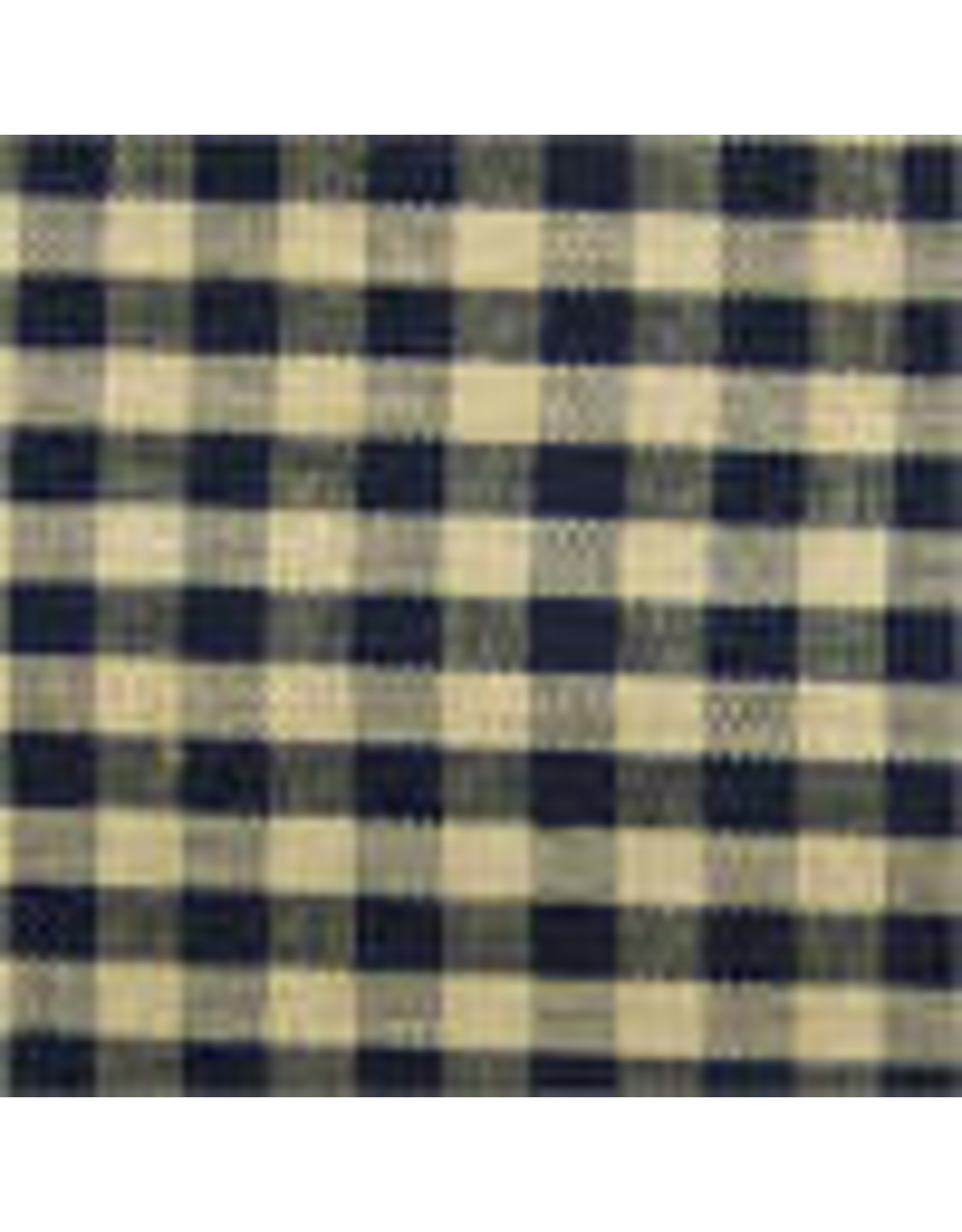 Yd. Black and Tan Little Square Check Fabric #504