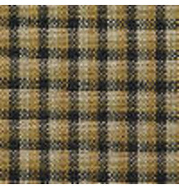 Yd, Mustard and Tan Colonial Plaid Fabric #3712