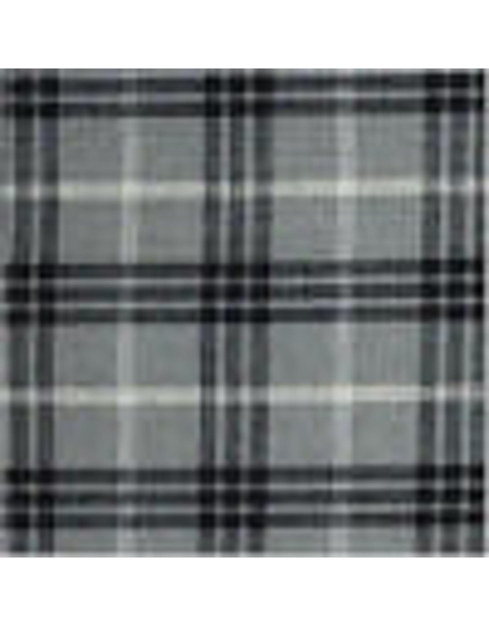 Yd. Gray and Black Bentley Plaid Fabric #1098