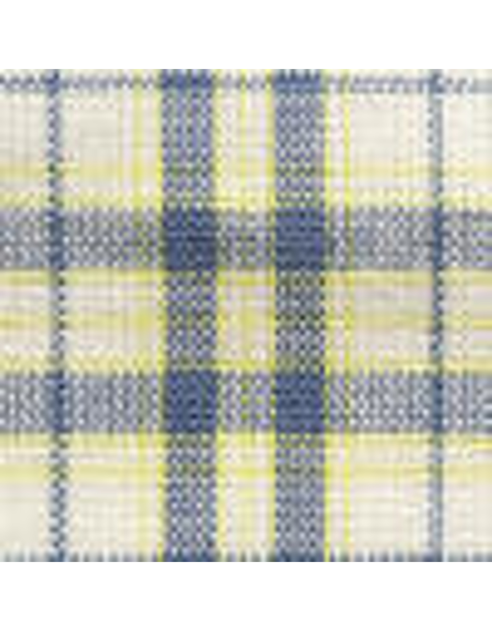 Yd. Blue and Yellow Chambray Check Fabric #850
