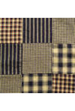 Yd. Navy Patchwork Fabric #p2