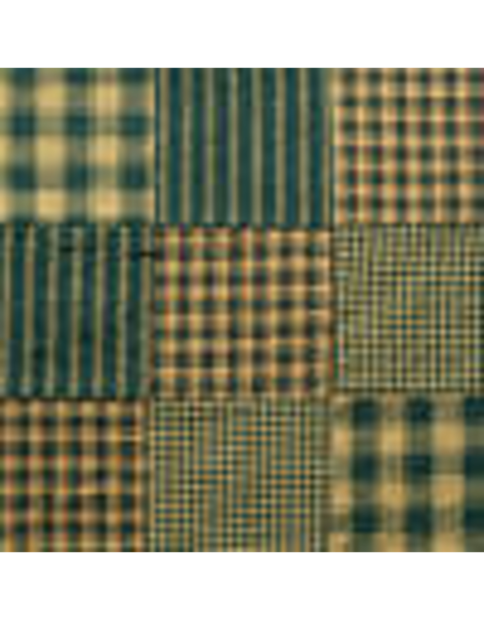 Yd. Green Patchwork Fabric #P4