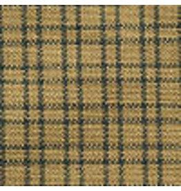 Yd. Green and Tan Double Windowpane Fabric #402