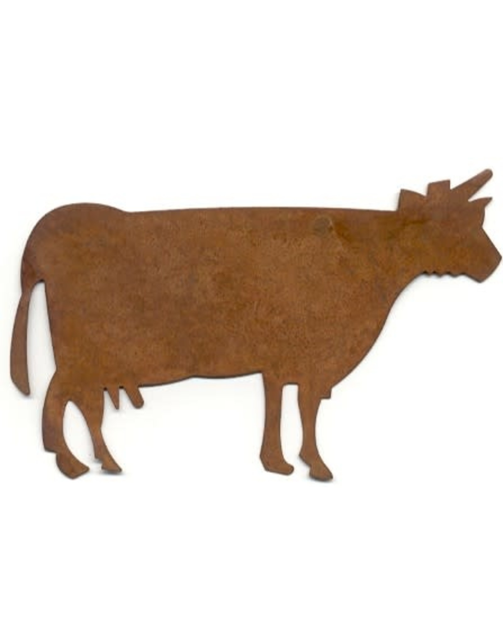 """RUSTY TIN COW 4 5/16"""" (NO HOLE) PACKAGED 12"""