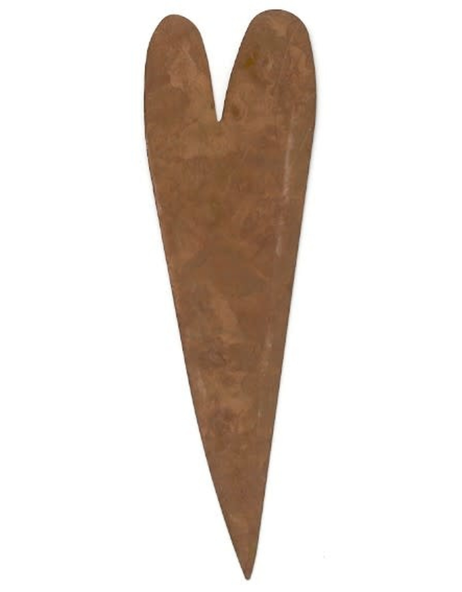 """RUSTY TIN HEART 5 1/2"""" (NO HOLE) PACKAGED 12"""