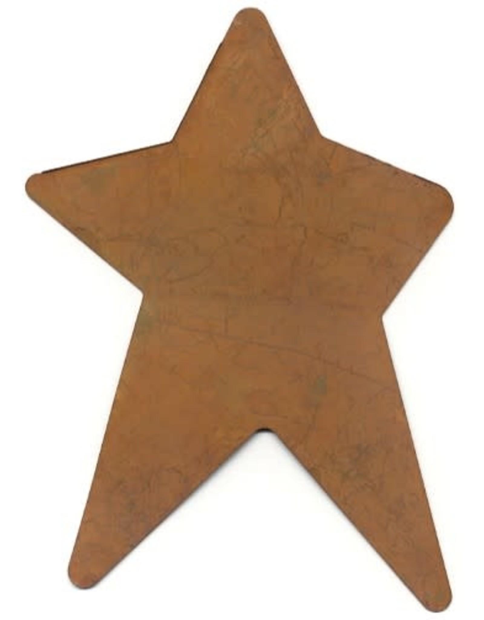 "RUSTY TIN STAR( NO HOLE)  3 1/4"" X 5"""