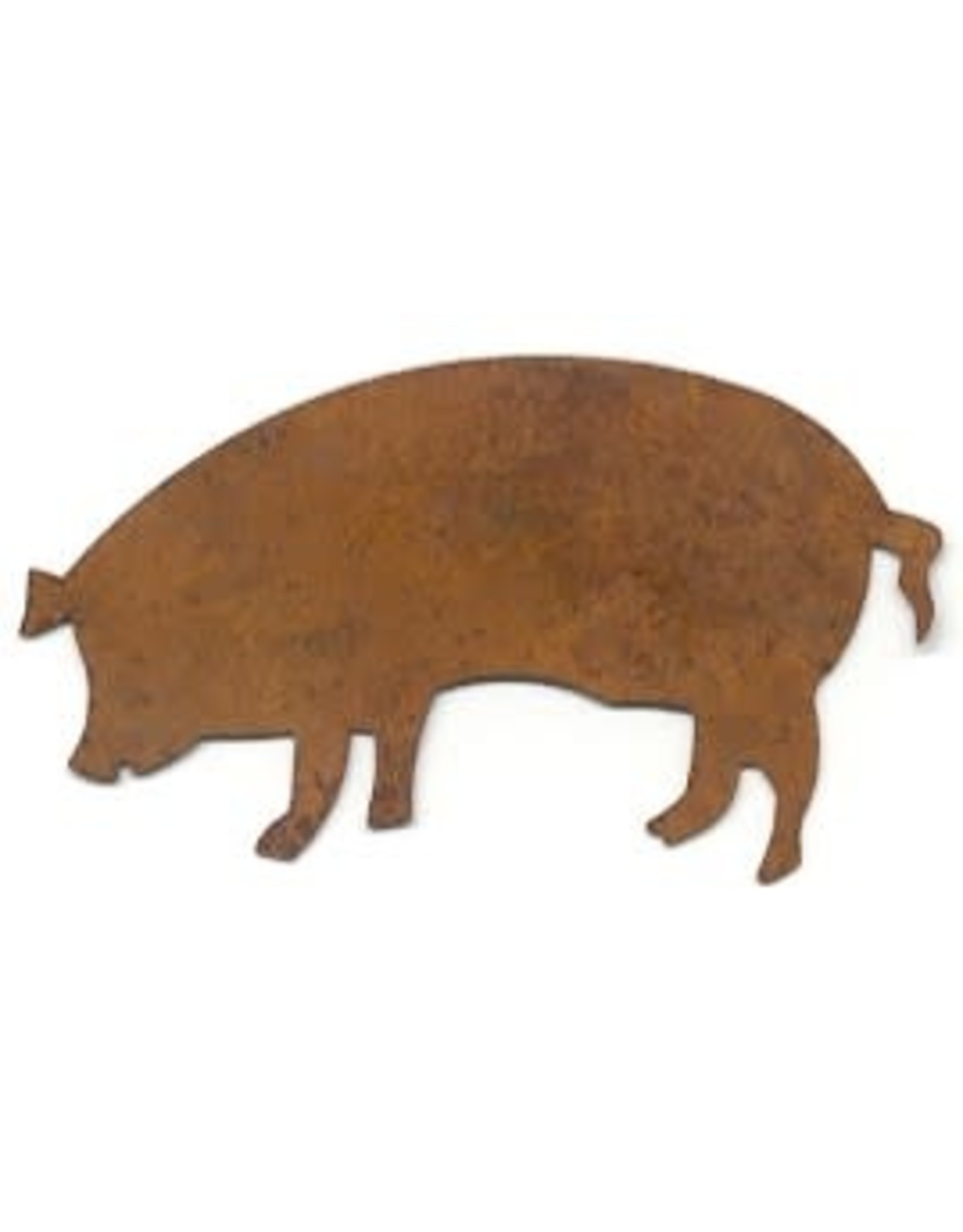 """RUSTY TIN PIG 2 1/2"""" (NO HOLE) PACKAGED 12"""