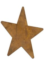 """RUSTY TIN STAR 4"""" (NO HOLE) PACKAGED 12"""