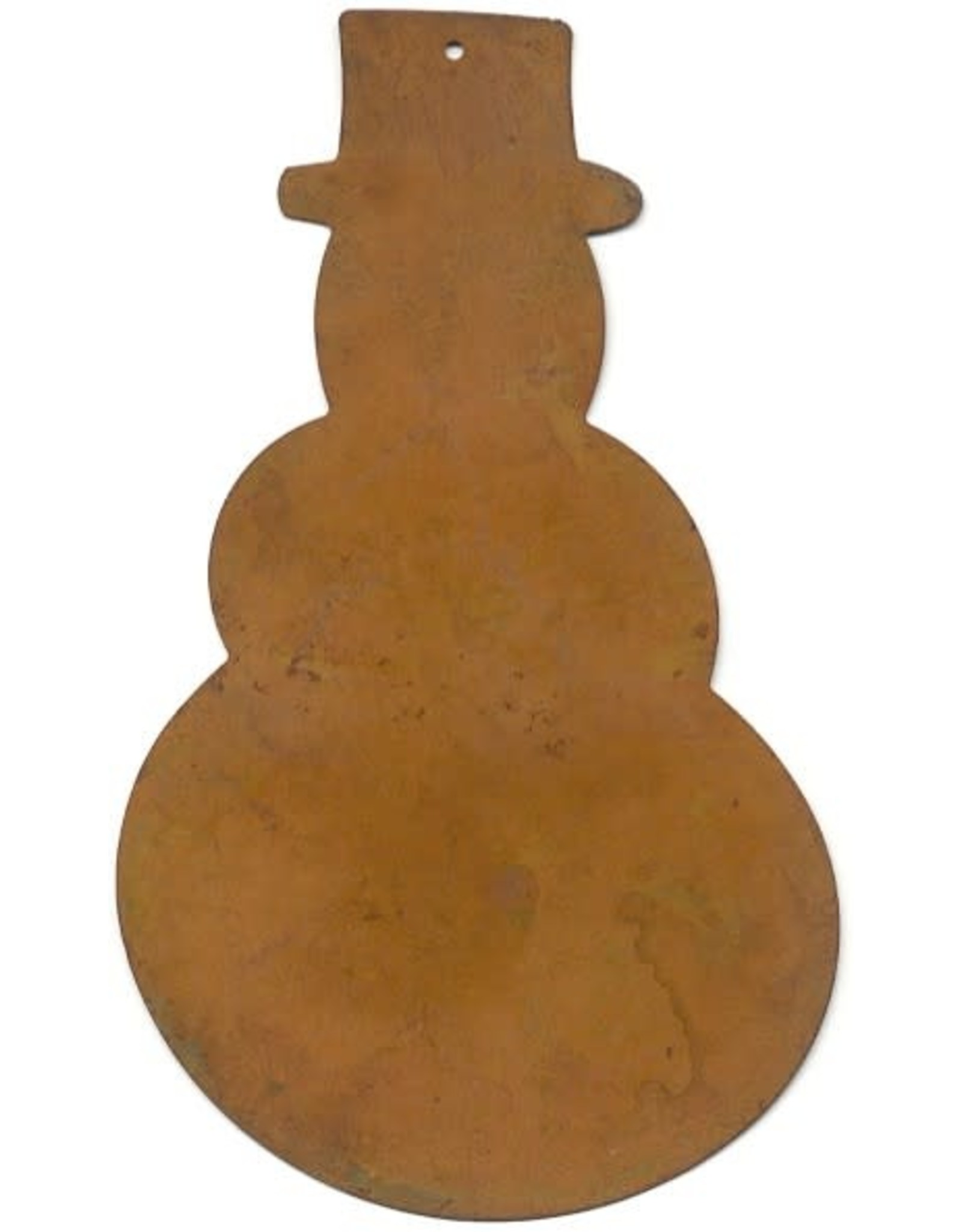 """RUSTY TIN SNOWMAN 5 3/4"""" (NO HOLE) PACKAGED 12"""