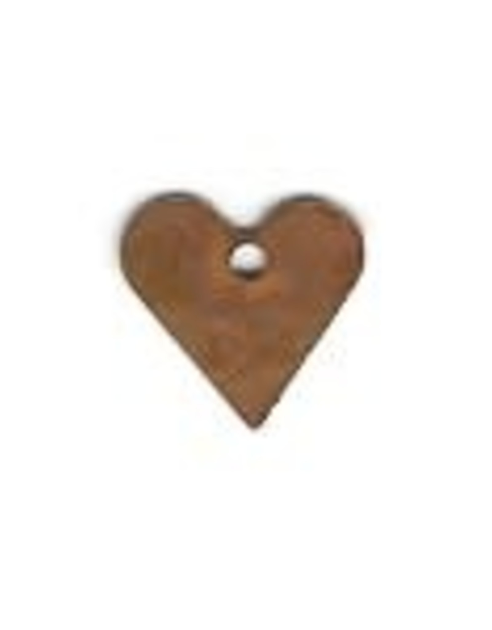 """RUSTY TIN HEART 1/2"""" (WITH HOLE) PACKAGED 12"""