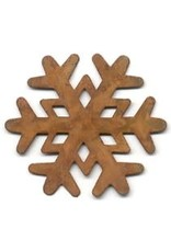 """RUSTY SNOWFLAKE 2"""" (NO HOLE) PACKAGED 12"""