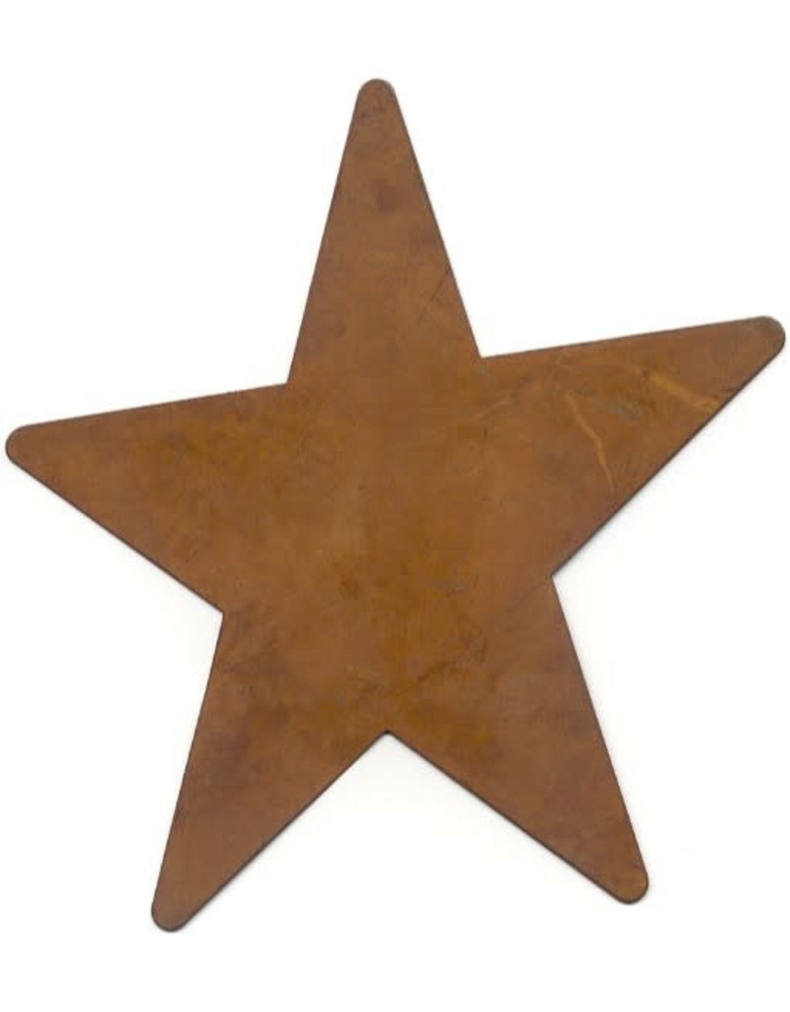 """RUSTY TIN STAR 5"""" (NO HOLE) PACKAGED 12"""