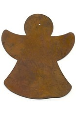 """RUSTY TIN ANGEL 5"""" X 5"""" (WITH HOLE) PACKAGED 12"""