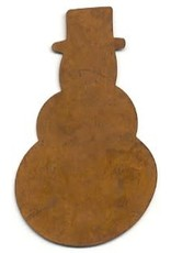 """RUSTY  TIN SNOWMAN 2 3/4"""" (NO HOLE) PACKAGED 12"""