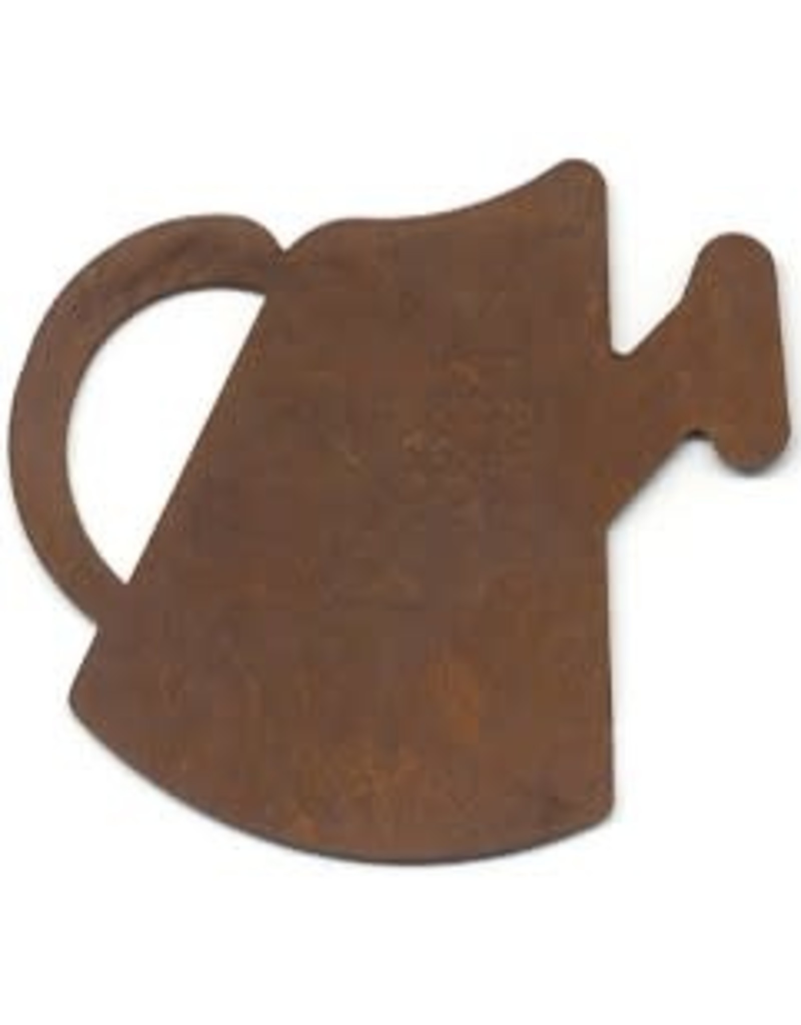 """RUSTY TIN WATERING CAN 2 1/4"""" (NO HOLE) PACKAGED 12"""