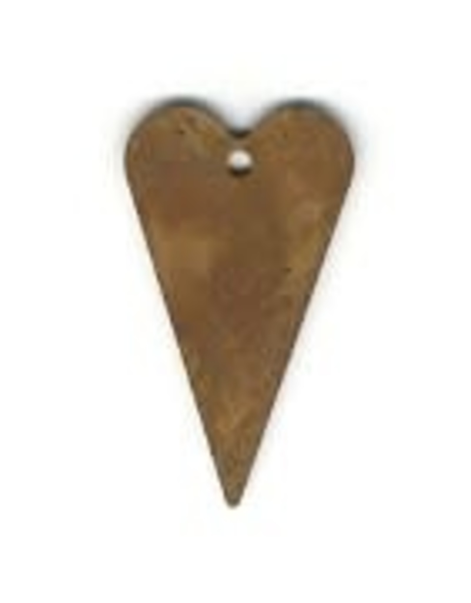 """RUSTY TIN HEART 1 1/4"""" (WITH HOLE) PACKAGED 12"""