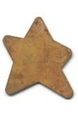 """RUSTY TIN STAR 1 1/8"""" (NO HOLE) PACKAGED 12"""
